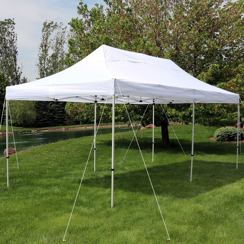 Instant Pop-Up Canopy Party and Wedding Tent. & Sunnydaze Quick-Up Instant Pop-Up Canopy Party and Wedding Tent ...