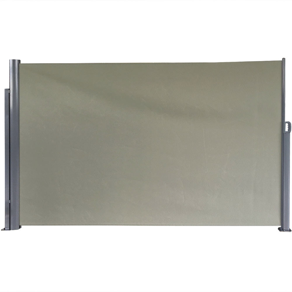 Sunnydaze Indoor/Outdoor Retractable Privacy Wall Side Awning with ...
