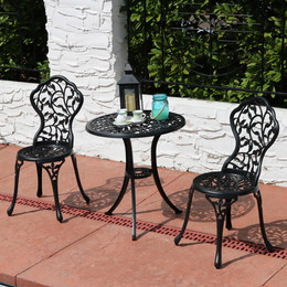 sunnydaze 3piece outdoor cast aluminum patio bistro set color options available