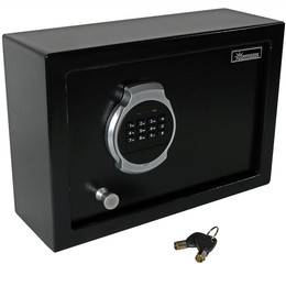 Sunnydaze Steel Digital Home Security Top Open Safe with Bolt-Down Hardware and Programmable Lock, 0.28 Cubic Feet