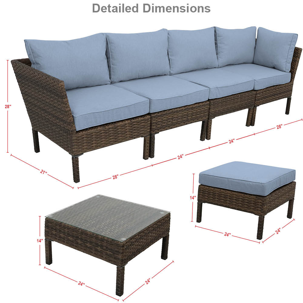 Great patio furniture dimensions home decor ideas for Outdoor furniture dimensions