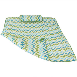 Sunnydaze Weather-Resistant Outdoor Polyester Quilted Hammock Pad and Pillow ONLY Set, Color Options Available