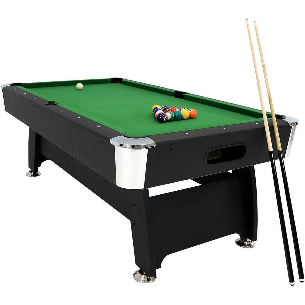 Sunnydaze 7 Foot Pool Table With Ball Return, Triangle, Balls, Cues,