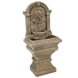 Sunnydaze Ornate Lavello Outdoor Water Fountain with Electric Submersible Pump, 51-Inch