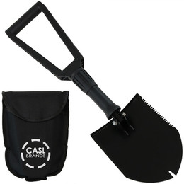 CASL Brands Steel Portable Shovel with Carrying Case
