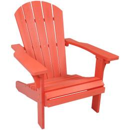 Elegant Sunnydaze All Weather Adirondack Patio Chair With Faux Wood Design