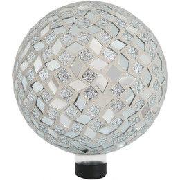 Sunnydaze Mirrored Diamond Mosaic Gazing Globe Ball, 10-Inch