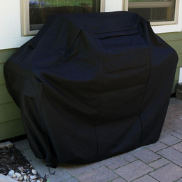 Sunnydaze Heavy-Duty 300D Polyester Fade-Resistant Waterproof Black BBQ Grill Cover, Size Options Available