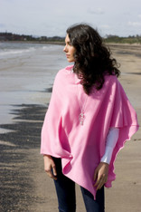 CASHMERE WRAP PINK GINGER