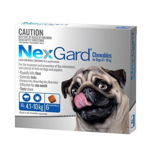 NexGard for Dogs 4.1-10kg - Blue 6 Pack