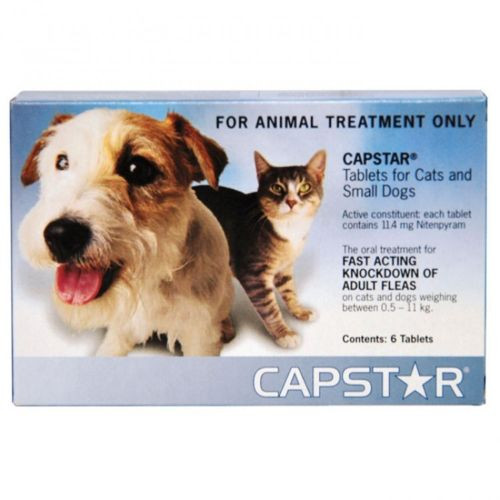CAPSTAR Flea Tablets For Small Dogs and Cats Up To 11kg - 6 Tablets