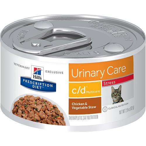 Hill's Prescription Diet Feline C/D Multicare Stress Chicken & Vegetable Stew 82g x 24