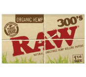 RAW Organic 300's 1-1/4 Creaseless Rolling Papers