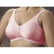 Satin and Lace Pocketed Bra shown in pink.
