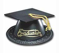 Black Graduation Caps Topper Set Wilton