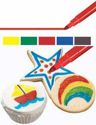 FoodWriter Fine Tip Primary Edible Markers 5ct. Wilton