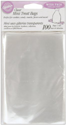 PARTY TREAT BAGS CLEAR MINIx100 WILTON