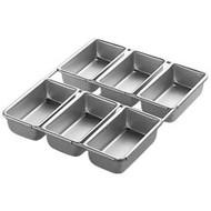 6 Cavity Mini Loaf Pan Wilton