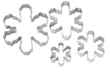 Snowflake nested cookie cutters