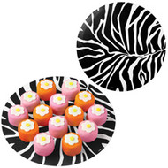 "12"" Black White Zebra Doilies 6ct. Wilton"