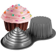 Dimensions Giant Cupcake Cake Pan Wilton
