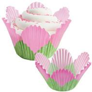 Pink Petal Cupcake Baking Cups 24ct Wilton