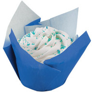 Blue Pleated Baking Cups Wilton