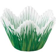 Shaped Grass Cupcake Baking Cups 24ct Wilton