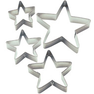 4 pc. Nested Stars Metal Cookie Cutters Set Wilton