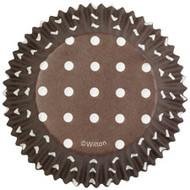 Brown Dots Cupcake Baking Cups 75ct Wilton