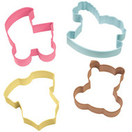 4 pc. Baby Theme Cookie Cutter Set Wilton