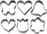 6 pc. Romantic Mini Metal Cookie Cutter Set Wilton