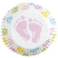 Baby Feet Cupcake Baking Cups 75ct Wilton