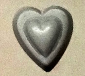 Double Heart Rubber Candy Mold