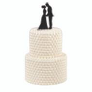 Cake Pick Silhouette Couple Wilton