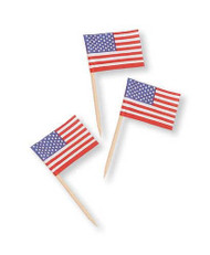 PICKS AMERICAN FLAGS 50 CT