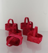 Red Mini Wood Chip Baskets