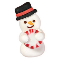 Snowman royal icing decoration