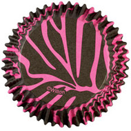 Baking cups pink zebra
