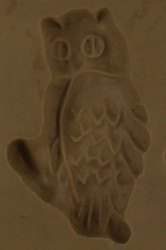 RUBBER CANDY MOLD OWL 1 1/8 INCH
