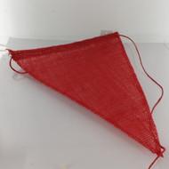 BANNER FLAG JUTE RED