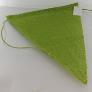 BANNER FLAG JUTE APPLE GREEN