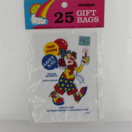 PARTY TREAT BAGS CLOWN H,B. x25