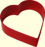COOKIE CUTTER HEART RED METAL