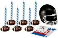 CANDLE SET FOOTBALL W/DECALS