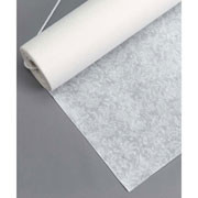 AISLE RUNNER WHITE FLORAL LACE 50FT