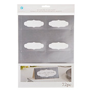 PLACECARDS SILVER FOIL 73 PC