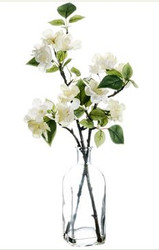 "CHERRY BLOSSOM IN VASE 18"" WH/CR"