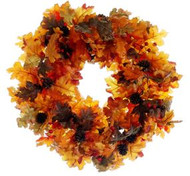 """WREATH OAK LEAF WITH CONES 20"""" OR/MX"""
