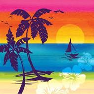 BEV NAPKINS PALM TREE ALOHA SUMMER